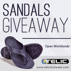 Enter the Telic Sandals Giveaway. Ends 3/30