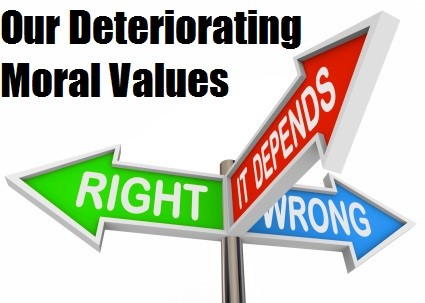 moral values of youth deteriorating What are the main factors affecting moral values in terms of youth  they mostly  agreed that there is deterioration in moral practices in arab.