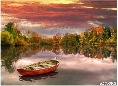 ảnh chiếc thuyền trên sông