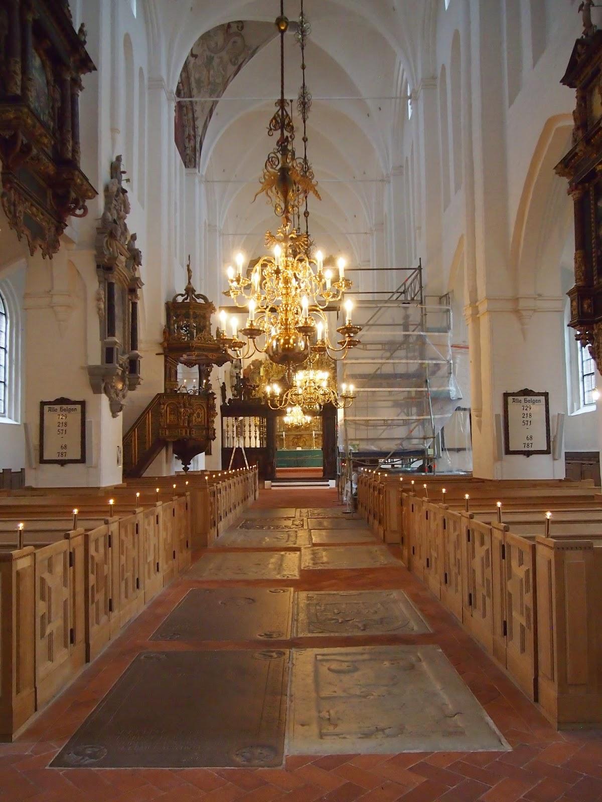 inside of St. Olaf's church in Helsingor