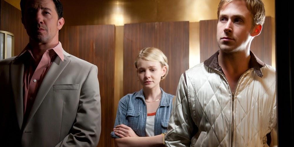 Jeff Wolfe, Carey Mulligan e Ryan Gosling em DRIVE