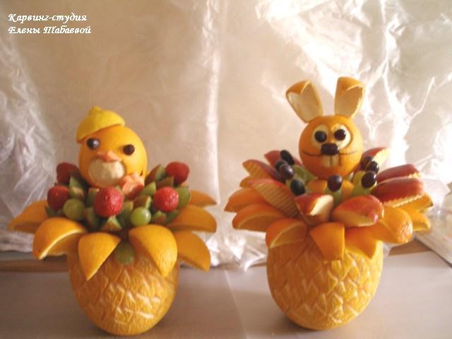 фруктовые букеты детский день рождения карвинг