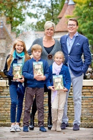 Dutch Countess Eloise, Count Claus-Casimir and Countess Leonore visit theme park De Efteling after the presentation of the new fairy tail book of Princess Laurentien De Sprookjessprokkelaar in Kaatsheuvel, The Netherlands