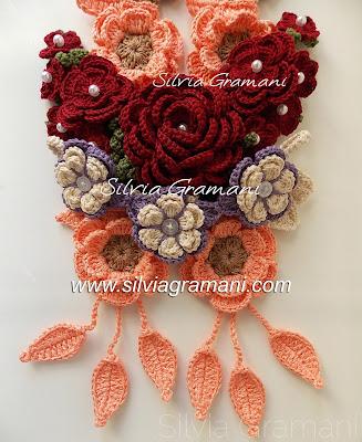 croche, flores