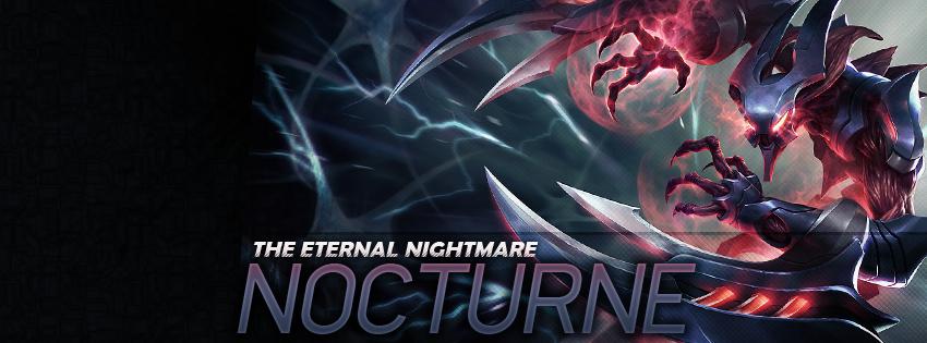 Ảnh bìa Facebook - Tướng Nocturne Liên Minh Huyền Thoại - LOL