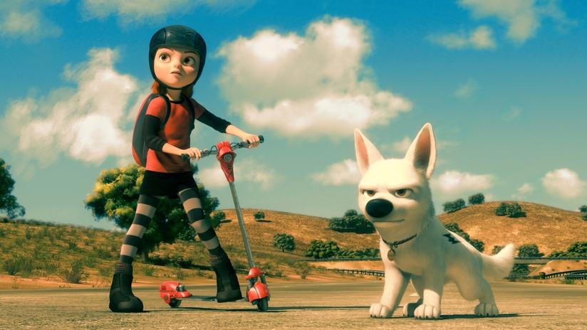 Penny Bolt Bolt 2008 Travolta Cyrus animatedfilmreviews.blogspot.com