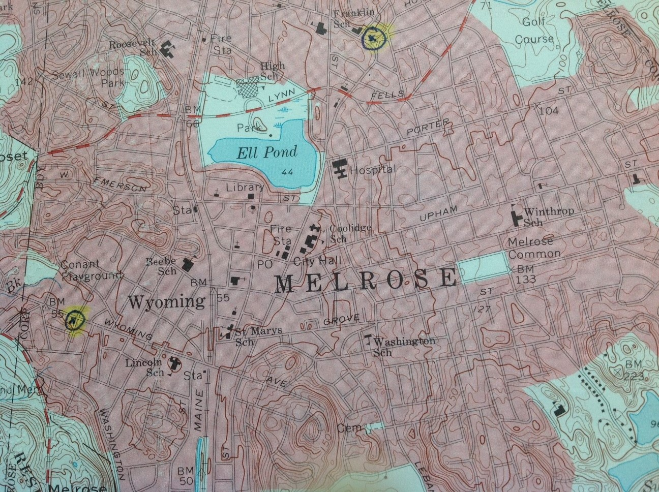 i had purchased this vintage map of melrose a long time ago