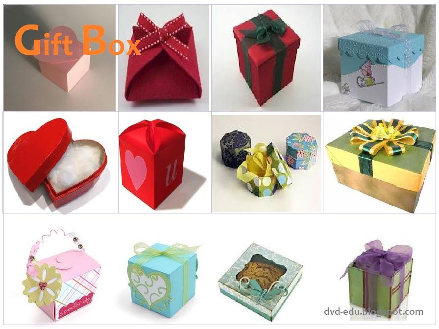 box atau kotak kertas sering digunakan untuk kado ulang tahun, kado