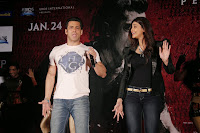 Salman Khan And Daisy Shah During The Promotion Of