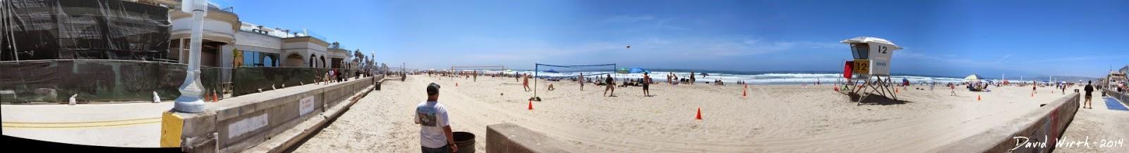 mission beach california, beach view
