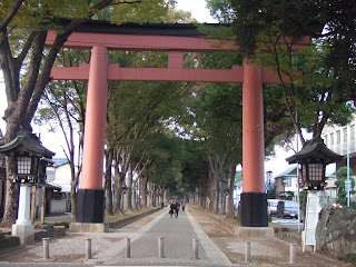 Torii of Omiya Hikawa Jinja