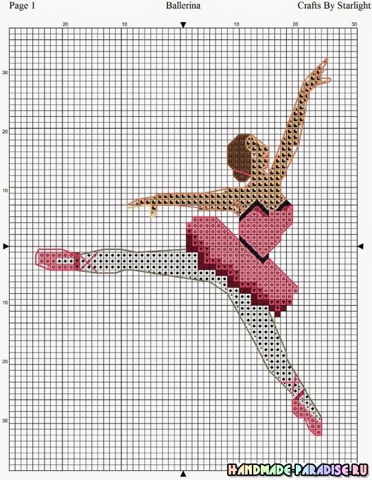 Балерины и танцовщицы - схемы вышивки крестом