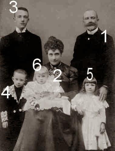 Tommaso, Isabella, Ferdinando, Filiberto, Bona Margherita et Adalberto de Savoie-Gênes-Famille royale d'Italie