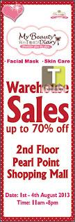 My Beauty Diary Warehouse Sale 2013