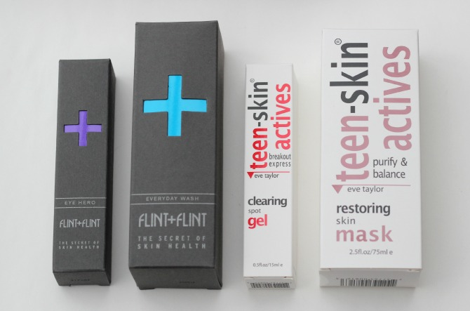 Flint & Flint skincare, and Teen-skin actives