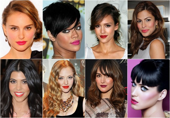 For bold lip looks these babes got it covered! Natalie Portman, Rihanna ...