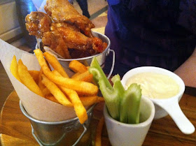 Stitch and Bear - Crispy chicken wings at the Wild Boar pub in Stepaside