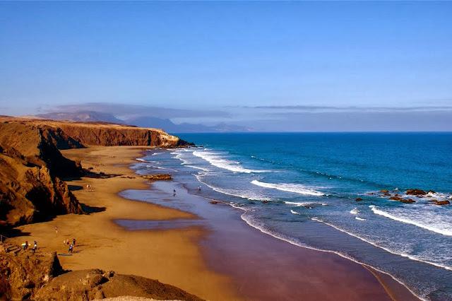 Plaża - Hiszpania - Fuerteventura - La Pared