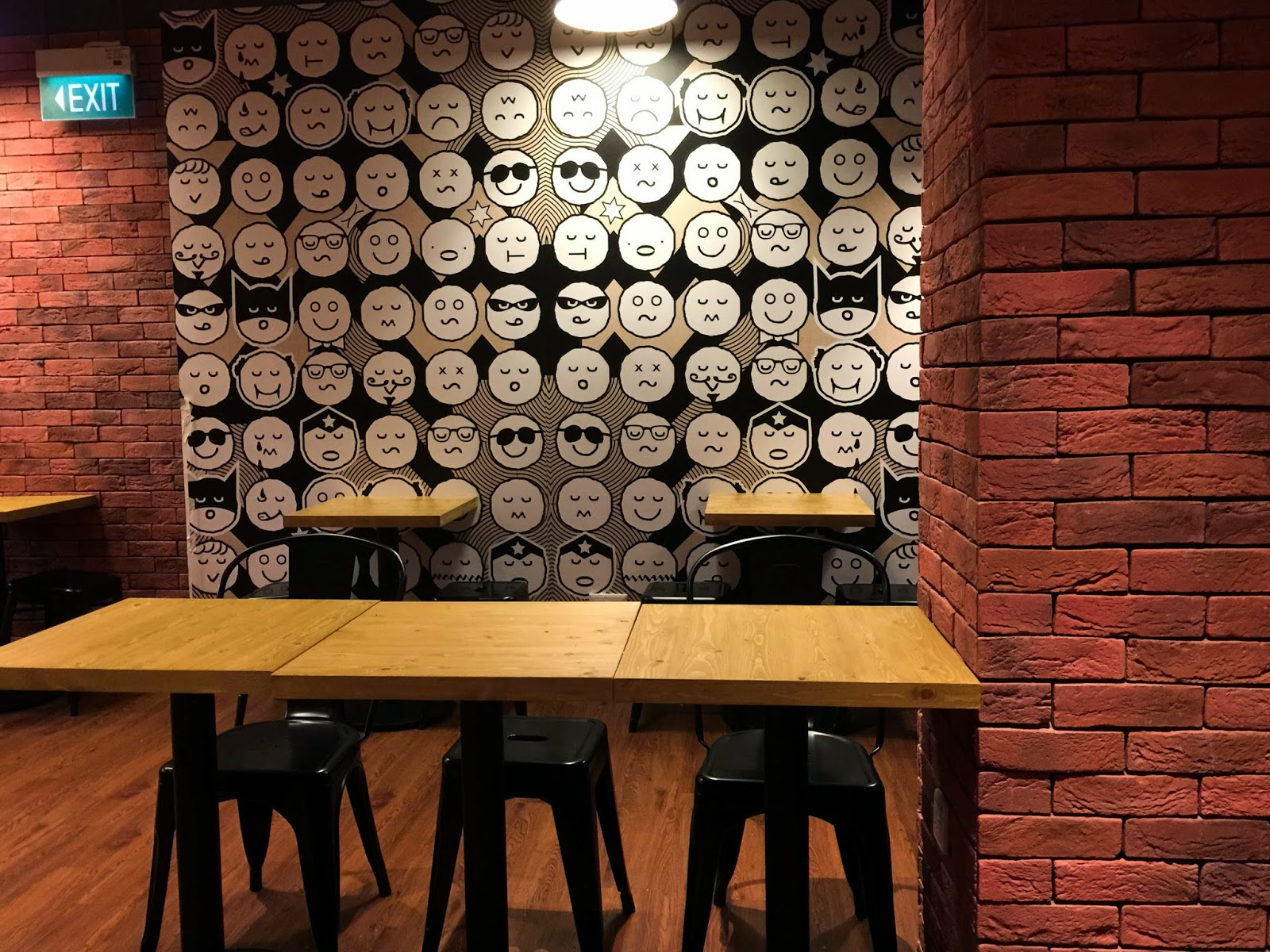 Pie Face Interior decoration singapore brick wall