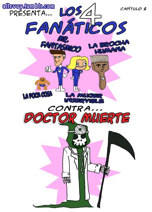 Los cuatro fanáticos contra Doctor Muerte
