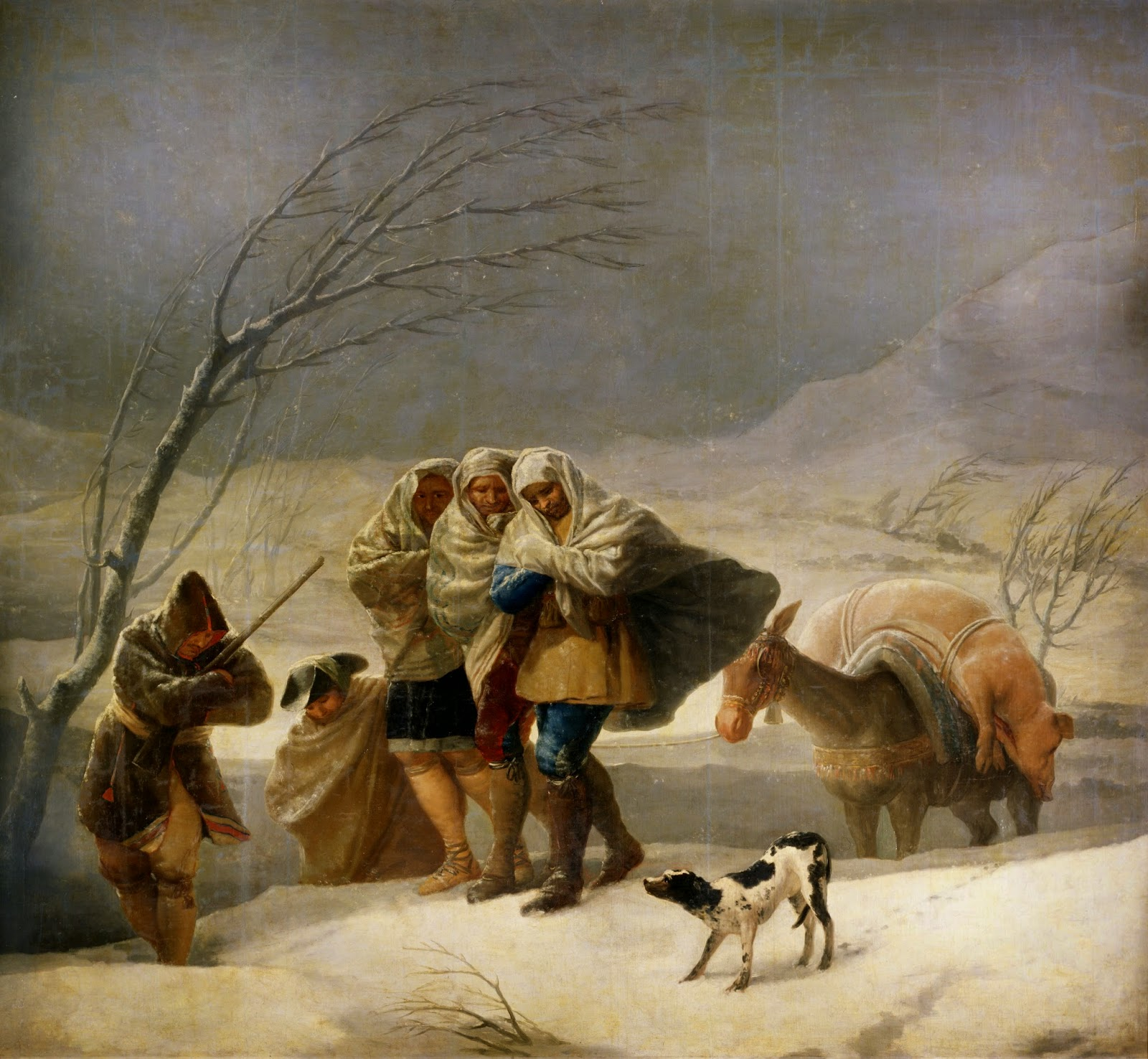 la nevada -Francisco de Goya