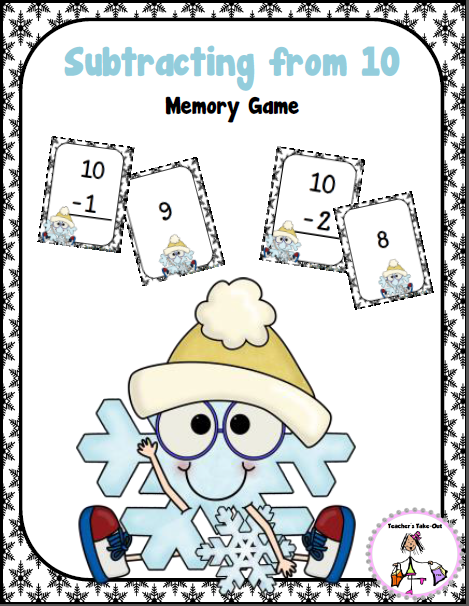 Freebie! Subtracting from 10
