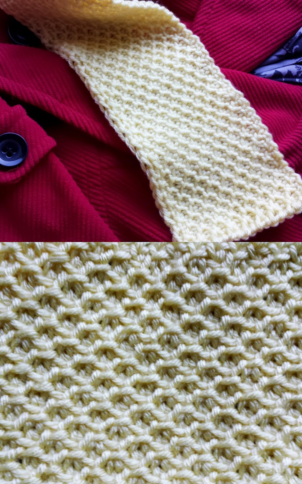 Honeycomb Stitch Scarf