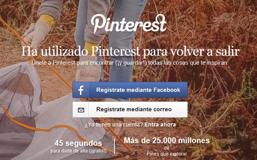 Como crear una cuenta en Pinterest