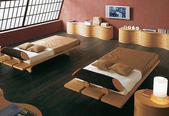 Decora y disena camas al estilo japones - Base cama japonesa ...