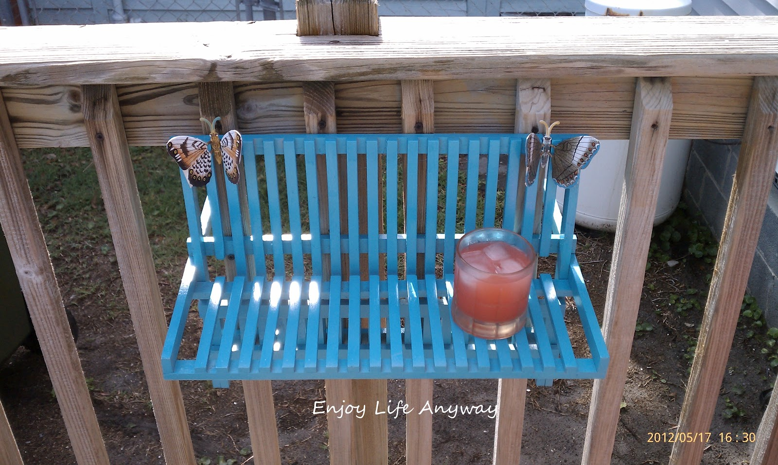 Wood Dish Rack As Small Shelf / Drink Holder.. Full resolution  file, nominally Width 1600 Height 957 pixels, file with #2E769D.