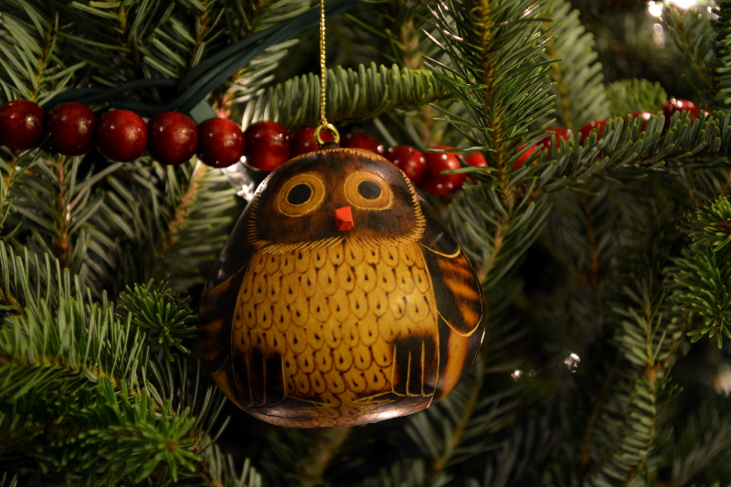 cozy birdhouse | bird gourd christmas ornament