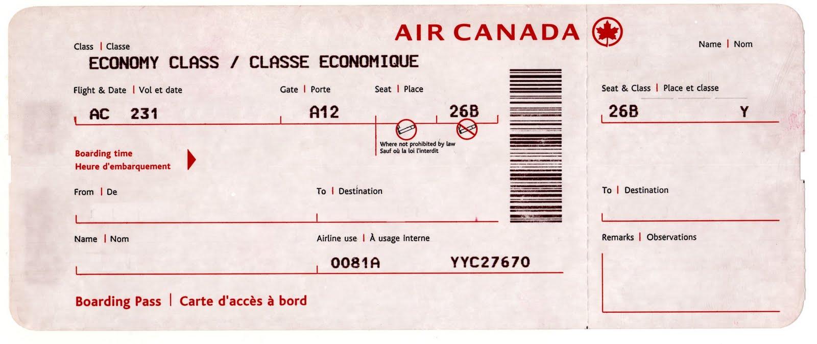 template airline ticket – Template Airline Ticket