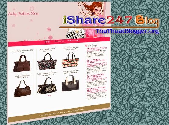Blogger template cửa hàng thời trang