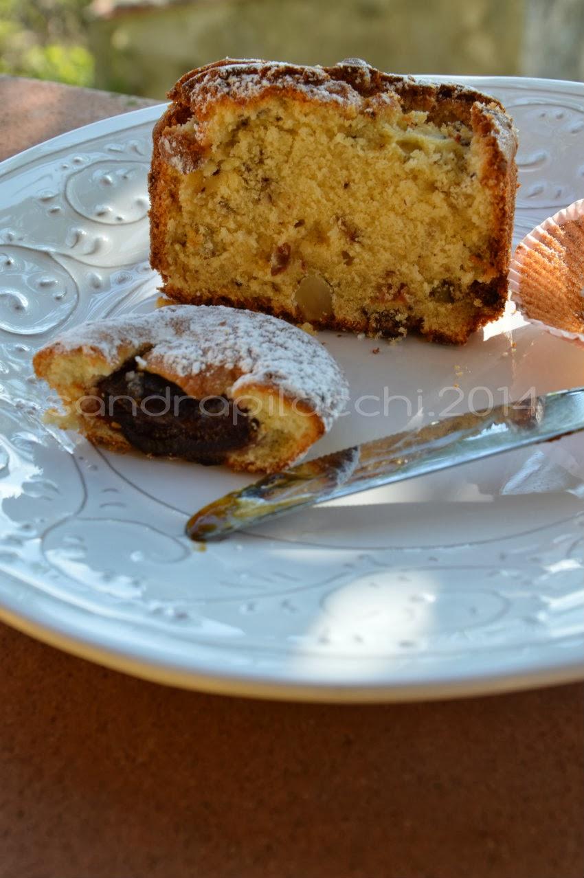 pound cake inglese.... plume cake italiano con fichi caramellati  e noci brasiliane