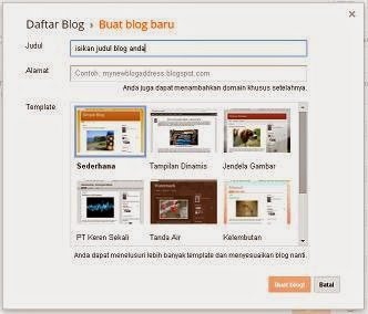 Cara Daftar Blog di Blogger