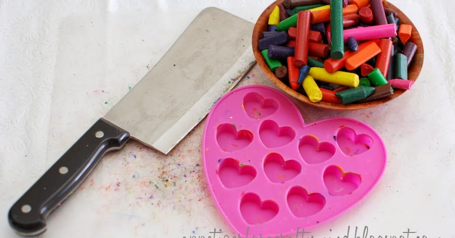 Appetizer For A Crafty Mind Marbled Heart Crayons