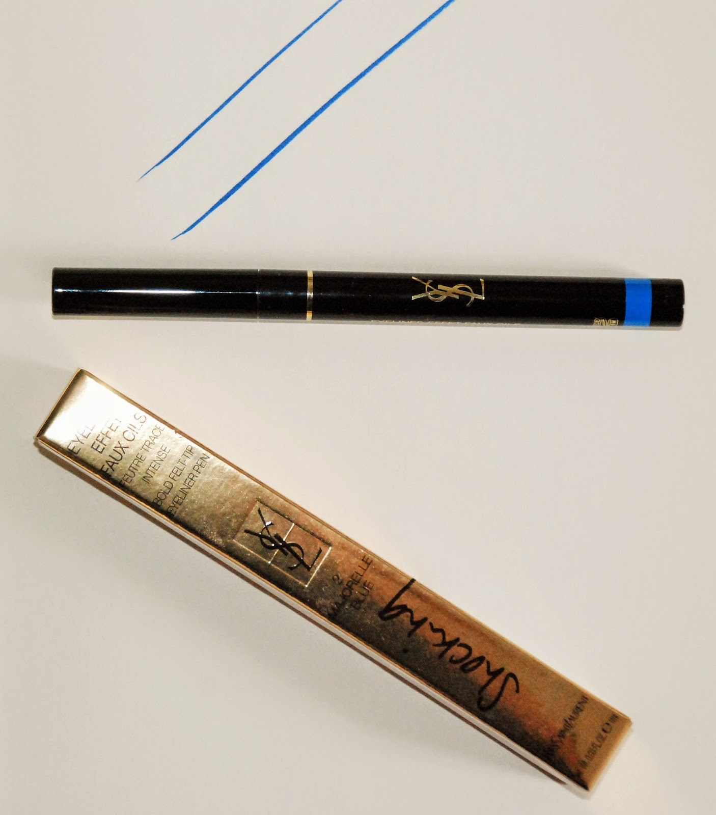 YSL SHOCKING EYELINER MAJORELLE BLUE | The Beauty Satisfaction
