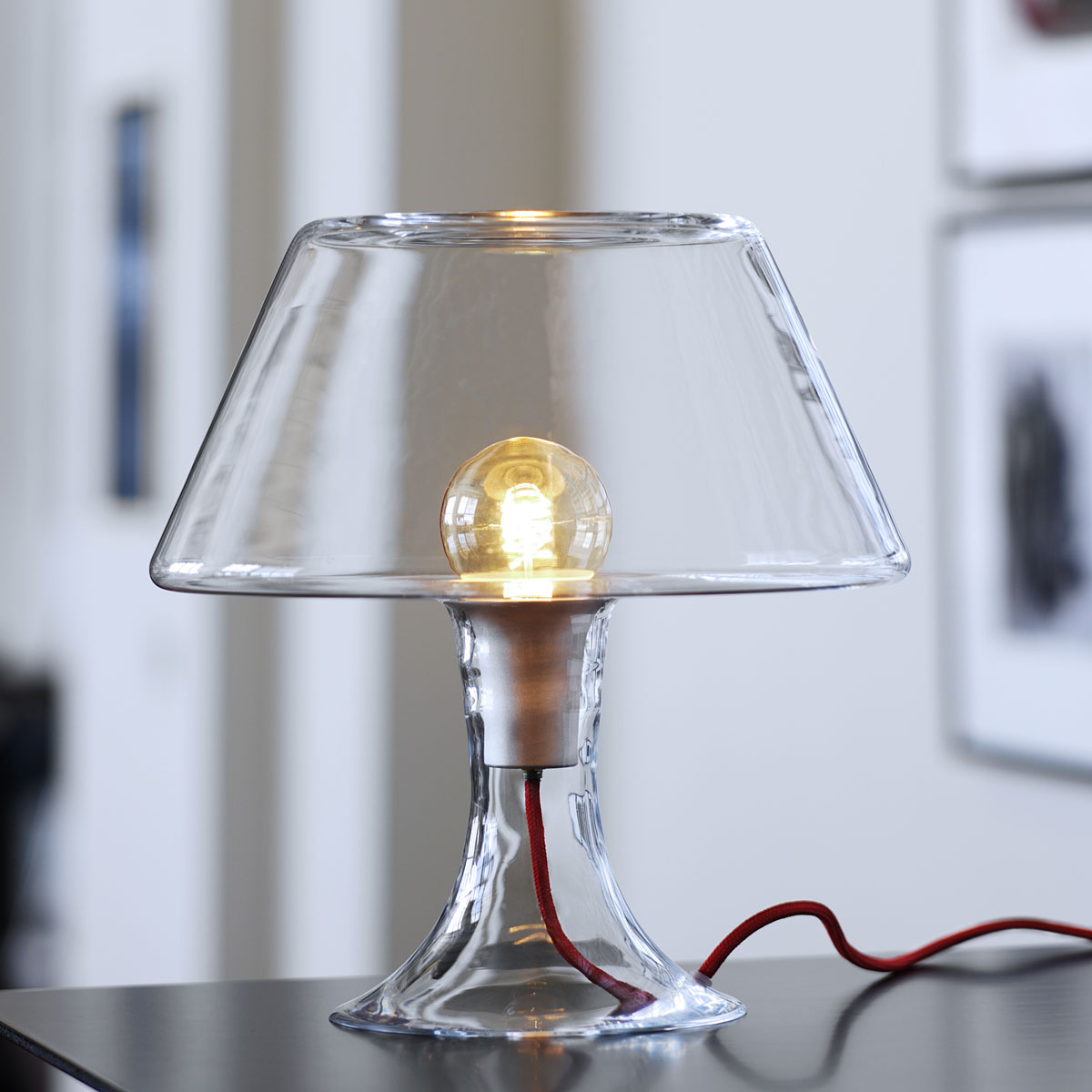 Modern glass table lamp - Classic One Glass Table Lamp