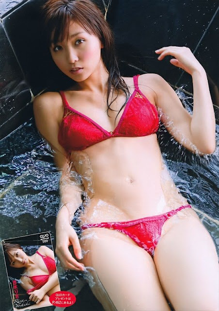 Risa Yoshiki in swimsuit