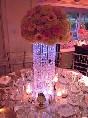 Beautiful Tall Crystal Wedding Centerpieces
