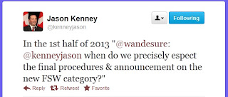 Jason Kenney's Twitter Message