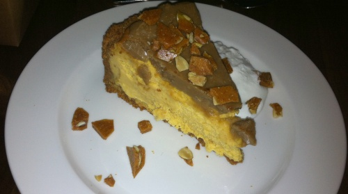 We finished off the meal with the Pumpkin Cheesecake ($8):