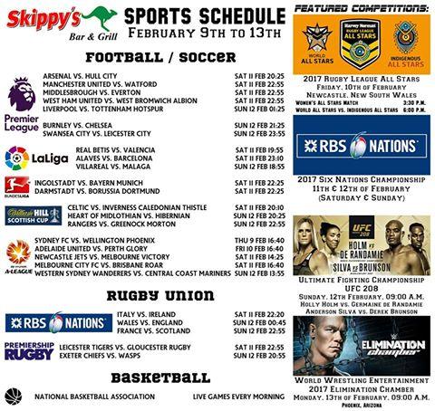Superbowl, UFC, Soccer, EU, AU, US