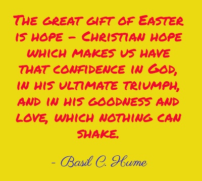 The great gift of easter is hope more than sayings the great gift of easter is hope negle Image collections