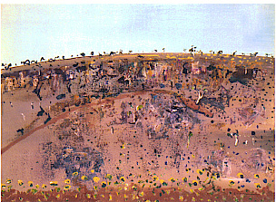 Iron Ore Hill Mount Turner - Fred Williams painting