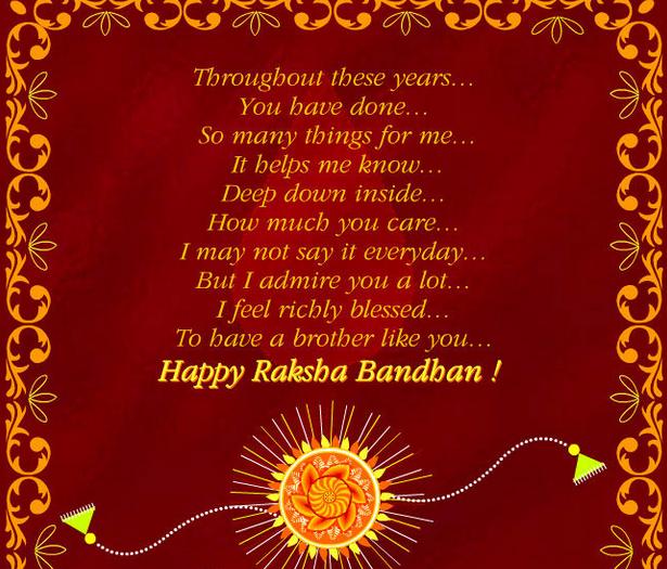 Rakhi happy raksha bandhan