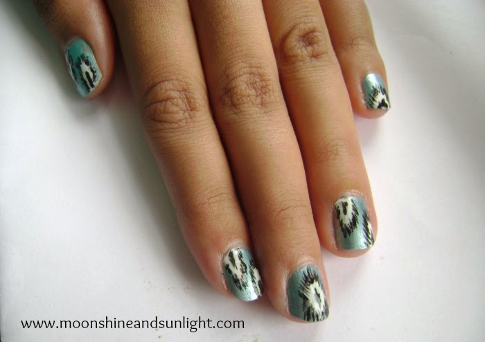 Metallic Ikat nail art | OMD2 Challenge day 13