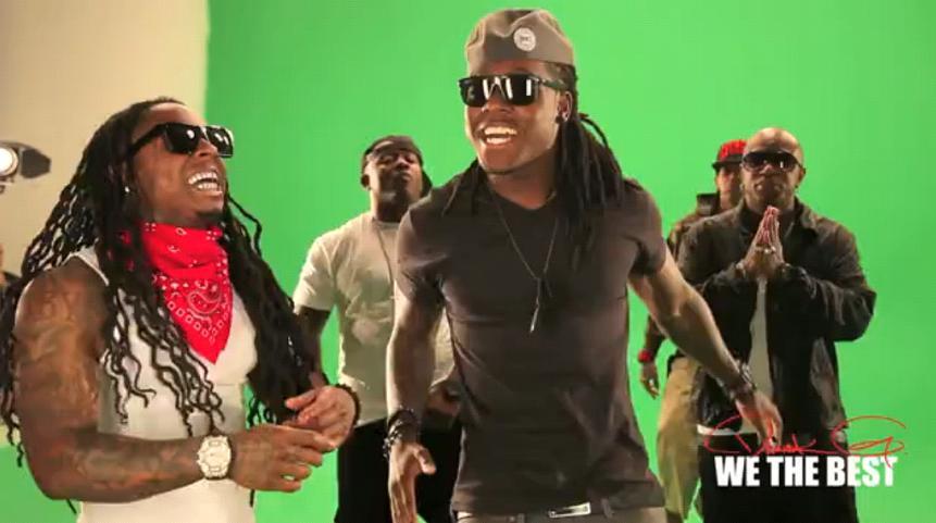 Foto do Lil Wayne gravando o clipe Hustle Hard (Remix)