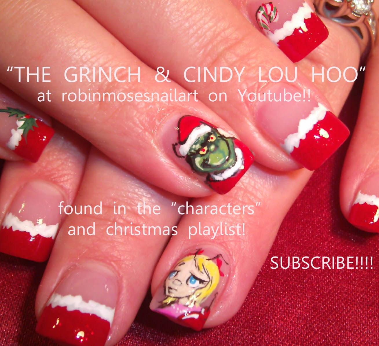 Christmas Holly Nail Designs