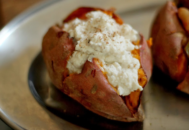 Baked Sweet Potato with ricotta